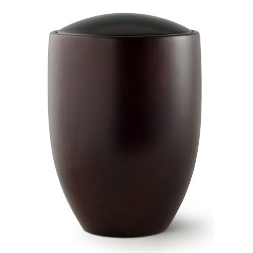 Seville Edition Cremation Ashes Urn – Hand Turned Alder Wood (Dark Ebony)
