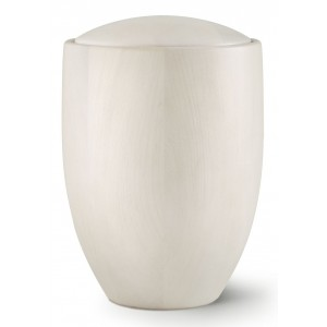 Seville Edition Cremation Ashes Urn – Hand Turned Alder Wood (Birch White)