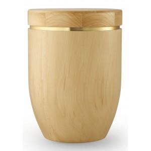 Star (Stellar) Edition Cremation Ashes Urn – Hand Turned Alder Wood (Natural Hue)