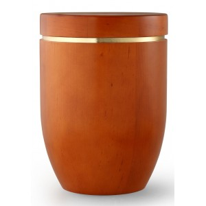 Star (Stellar) Edition Cremation Ashes Urn – Hand Turned Alder Wood (Mango Hue)