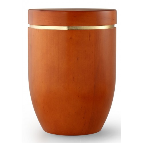 Star (Stellar) Edition Cremation Ashes Urn – Hand Turned Alder Wood (Mango Hue)