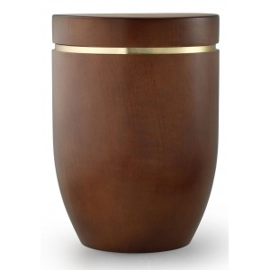 Star (Stellar) Edition Cremation Ashes Urn – Hand Turned Alder Wood (Teak Hue)