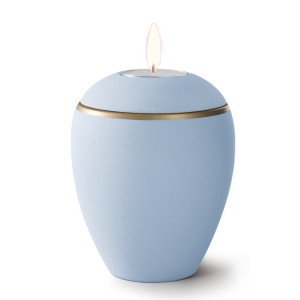 Croma Ceramic Candle Holder Keepsake Urn – LIGHT BLUE