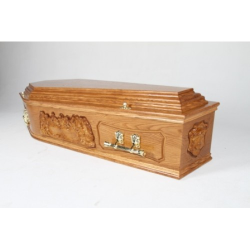 The Last Supper Bespoke Coffin - HUGE ONLINE PRICE SAVINGS