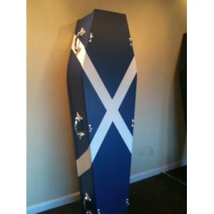 Scottish Flag Coffin - Creative Online Coffins