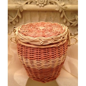 Autumn Gold Cream & Natural Wicker Willow Cremation Ashes Casket - **MADE WITH LOVE**
