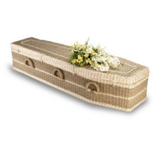Premium Wild Pineapple (Pandanus) Imperial (Traditional Style) Coffin. The Natural Choice