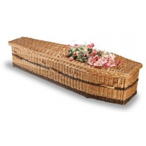 English Willow Imperial Traditional (Buff & Brown). **Environmentally Friendly Willow Coffins**